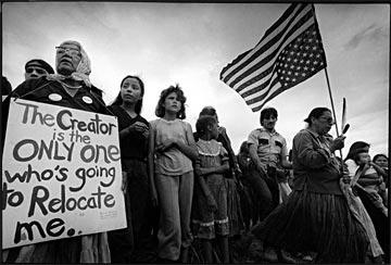 manifestation contre les mines de Peabody